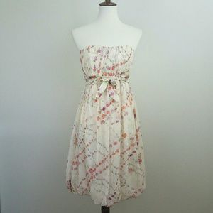 Tracy Reese NY RARE Silk Floral Strapless Dress